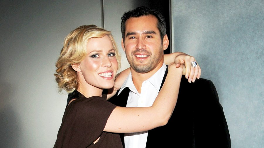 """Natasha Bedingfield and Matt Robinson arrives at the New York Premiere Of """"Lipstick Jungle"""" at the Hearst Tower in New York City."""