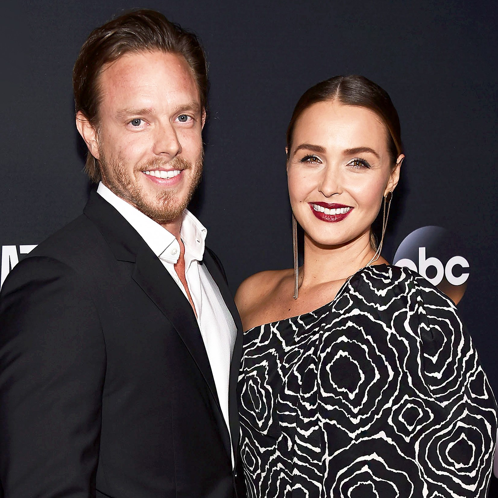 "Matthew Alan and Camilla Luddington arrive at the 300th Episode Celebration for ABC's ""Grey's Anatomy"" at TAO Hollywood on November 4, 2017 in Los Angeles, California."