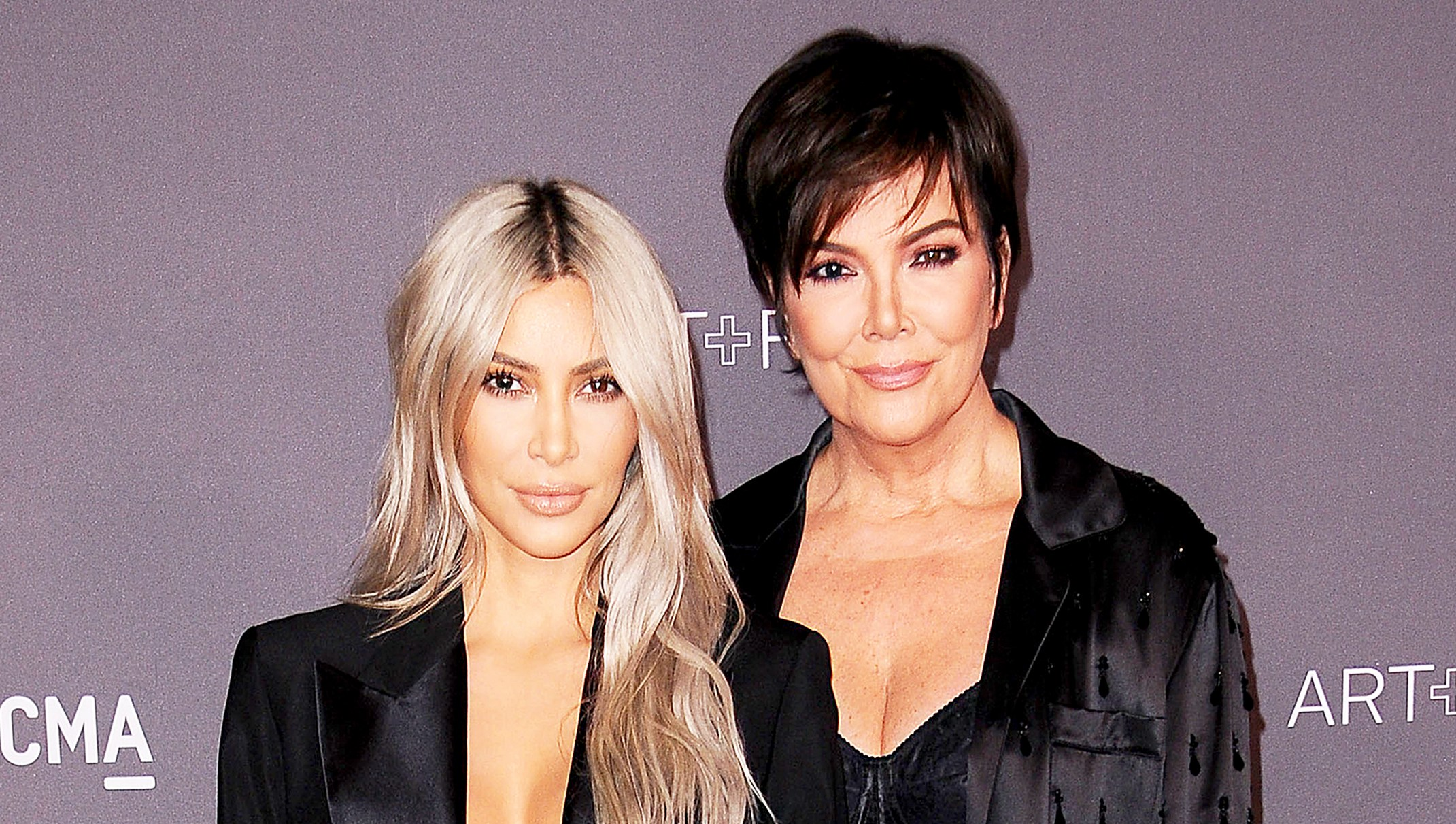 Kim Kardashian and Kris Jenner attend the 2017 LACMA Art + Film gala at LACMA in Los Angeles, California.