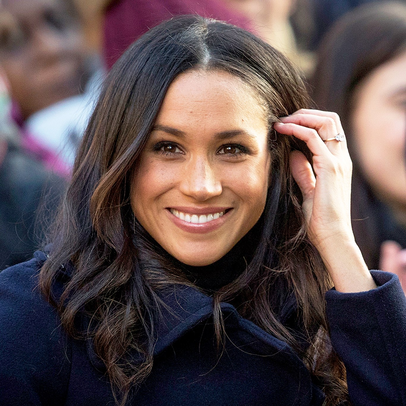 Meghan Markle arrives at the Terrance Higgins Trust World AIDS Day charity fair on December 1, 2017 in Nottingham, England.