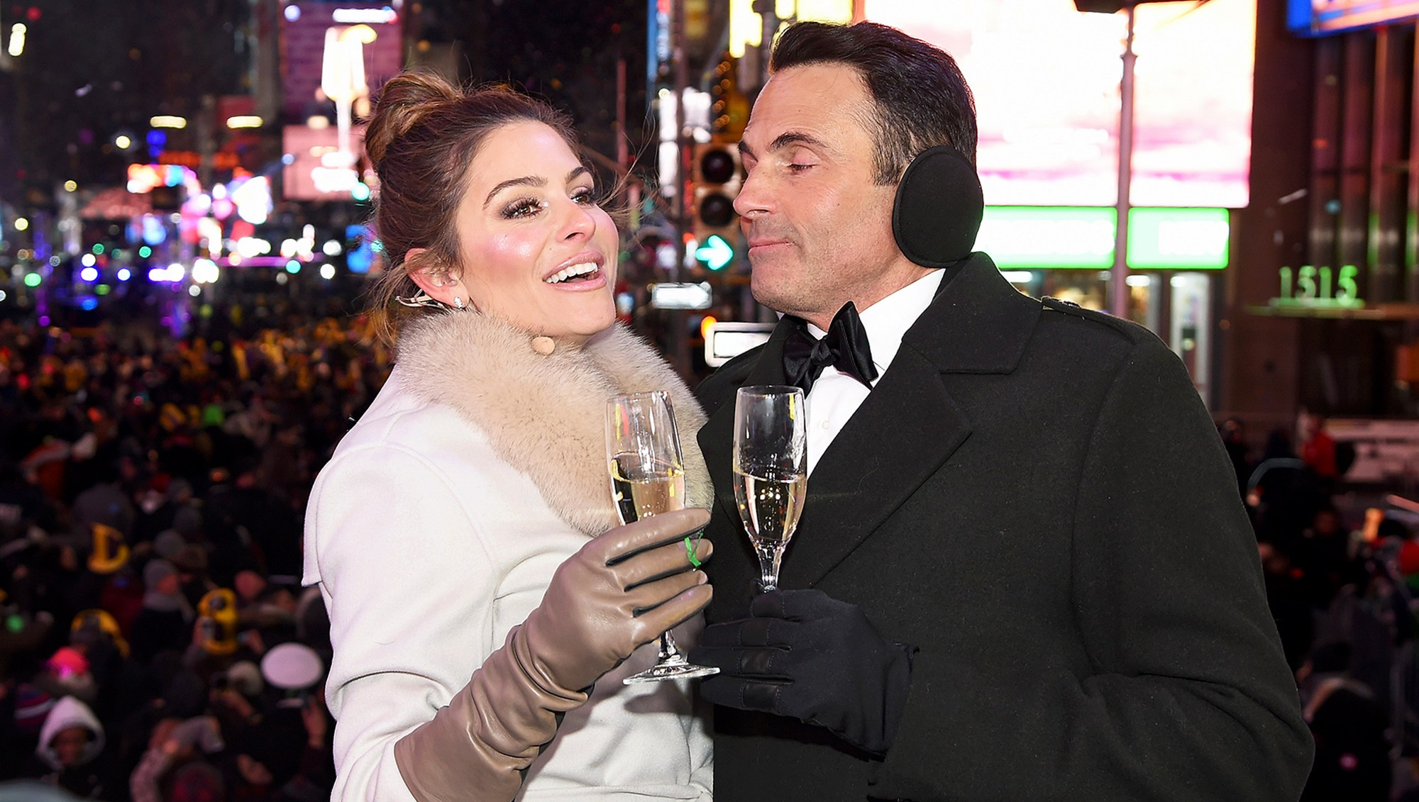 Maria Menounos and Keven Undergaro during Maria Menounos and Steve Harvey Live from Times Square at Marriott Marquis Times Square on December 31, 2017 in New York City.