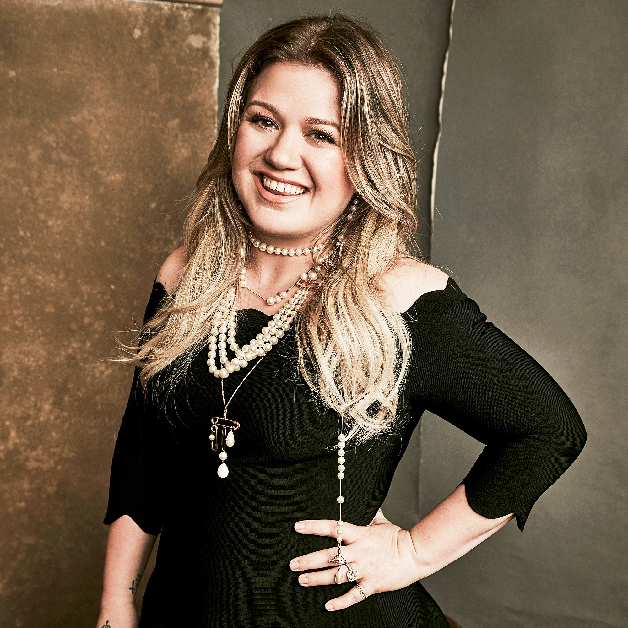 Kelly Clarkson attends the NBC Universal TCA Winter Press Tour on January 9, 2018, in Pasadena, California.