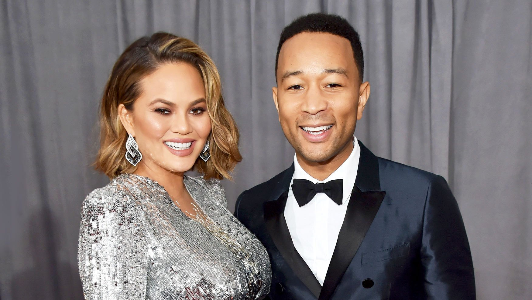 Chrissy Teigen and John Legend attend the 60th Annual Grammy Awards at Madison Square Garden on January 28, 2018 in New York City.