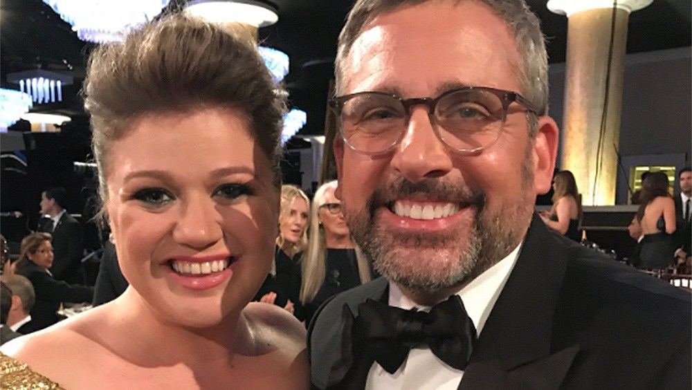 Kelly Clarkson and Steve Carrell