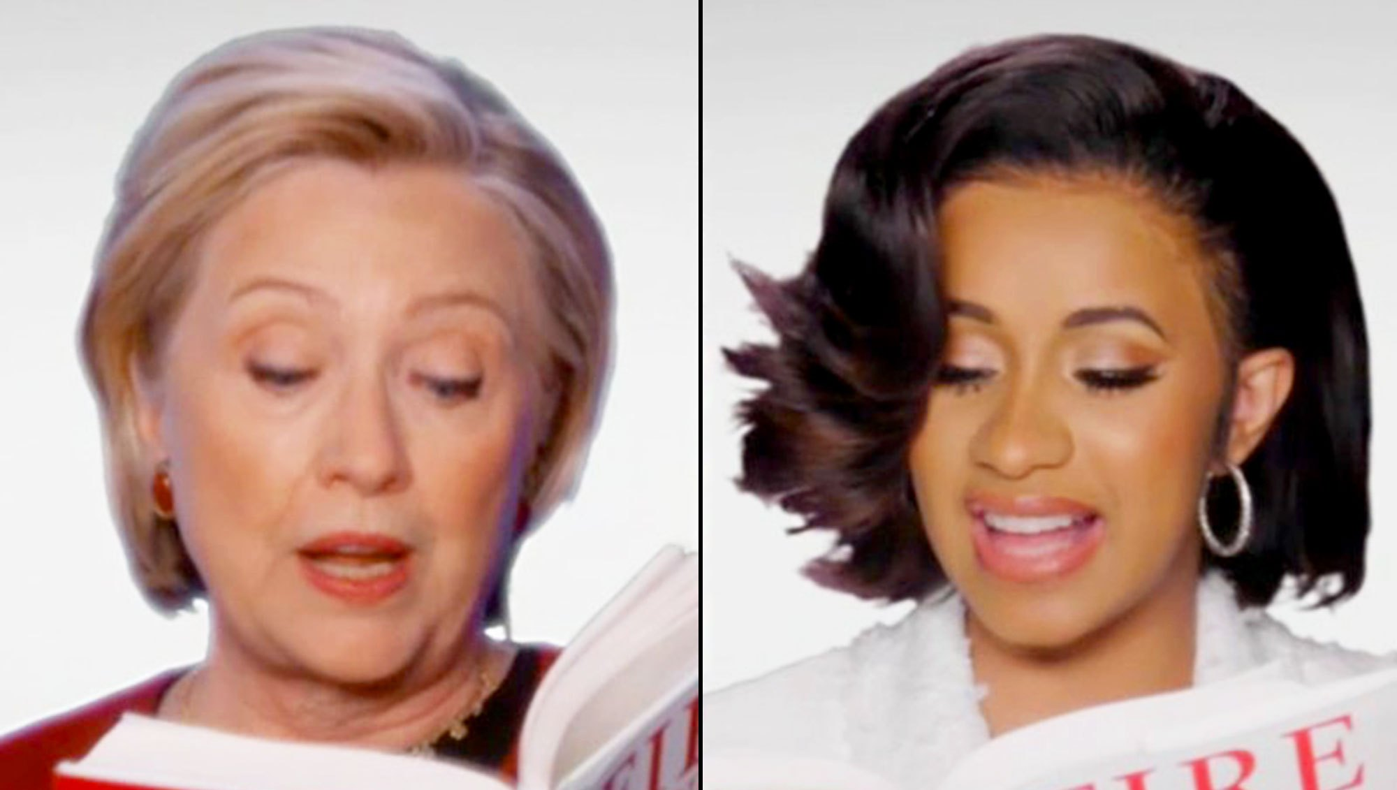 Hillary Clinton and Cardi B