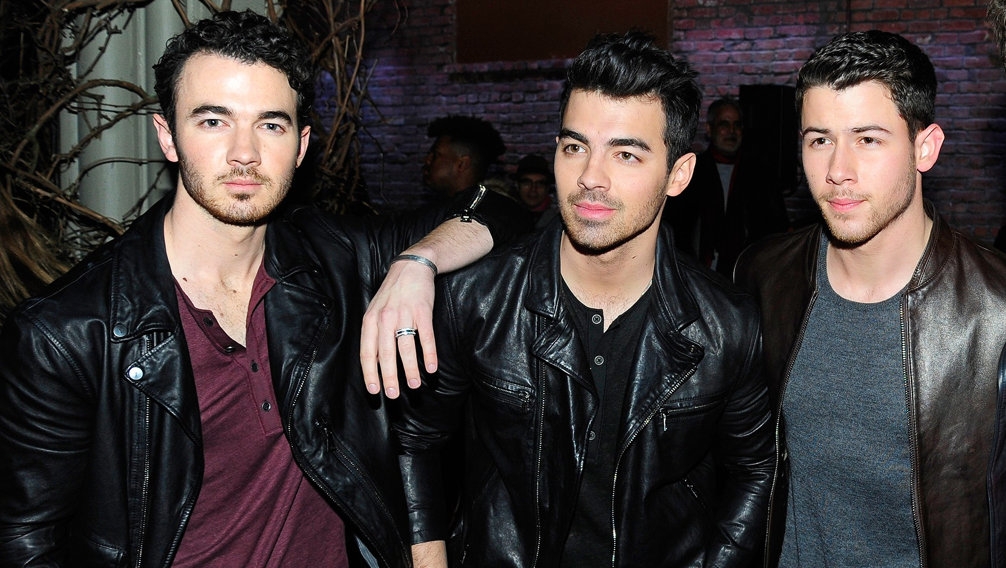 Kevin Jonas, Joe Jonas, Nick Jonas, John Varvatos, Fashion Show, Front Row