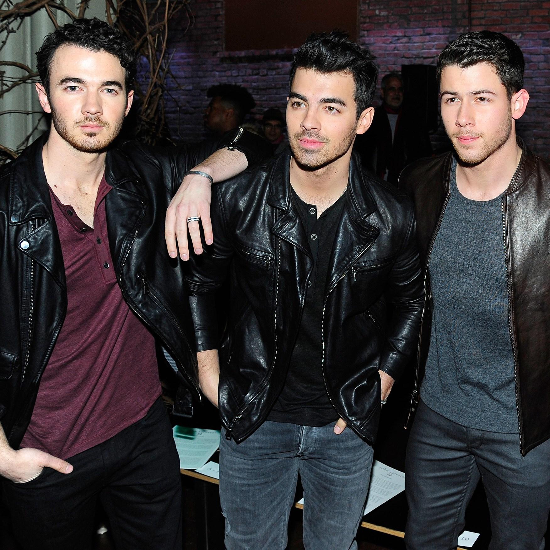 Kevin Jonas, Joe Jonas, Nick Jonas, John Varvatos, Fashion Show, Front Row