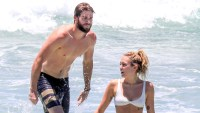 miley cyrus liam hemsworth beach