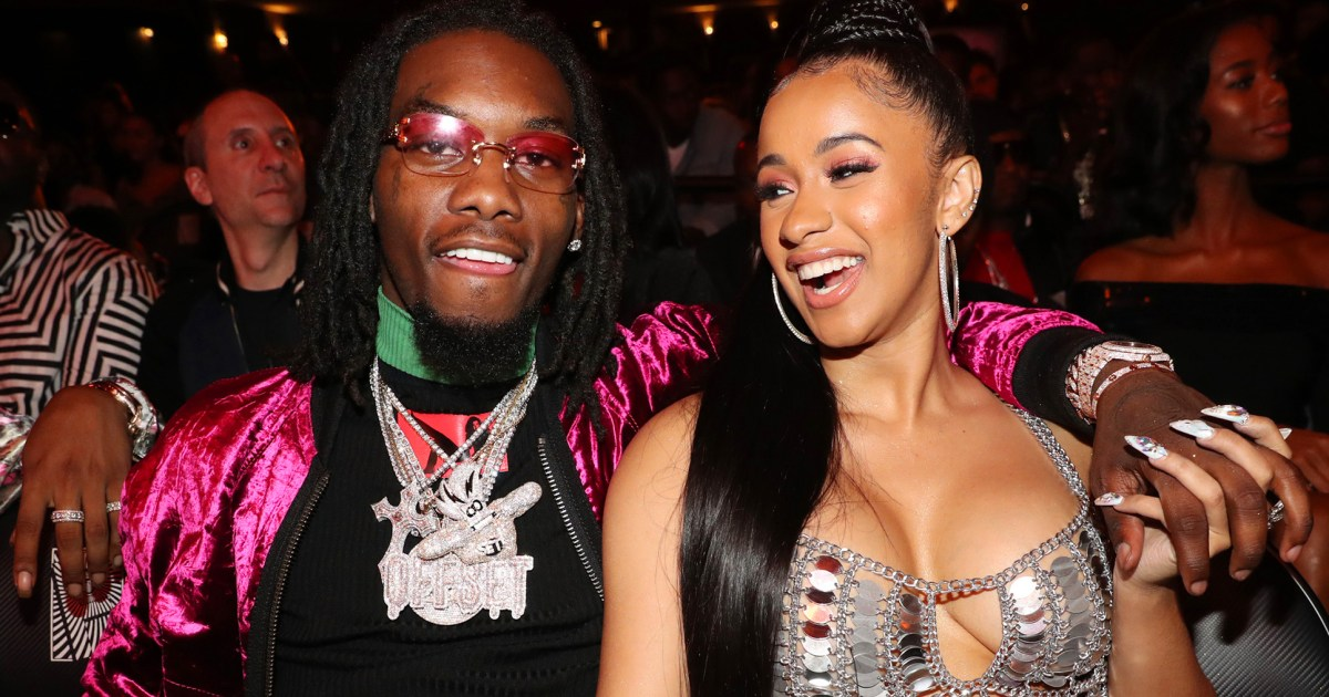 Cardi B Gives Offset A Lap Dance Onstage At Bet Awards: Offset Gets Cardi B's Name Tattooed On His Neck