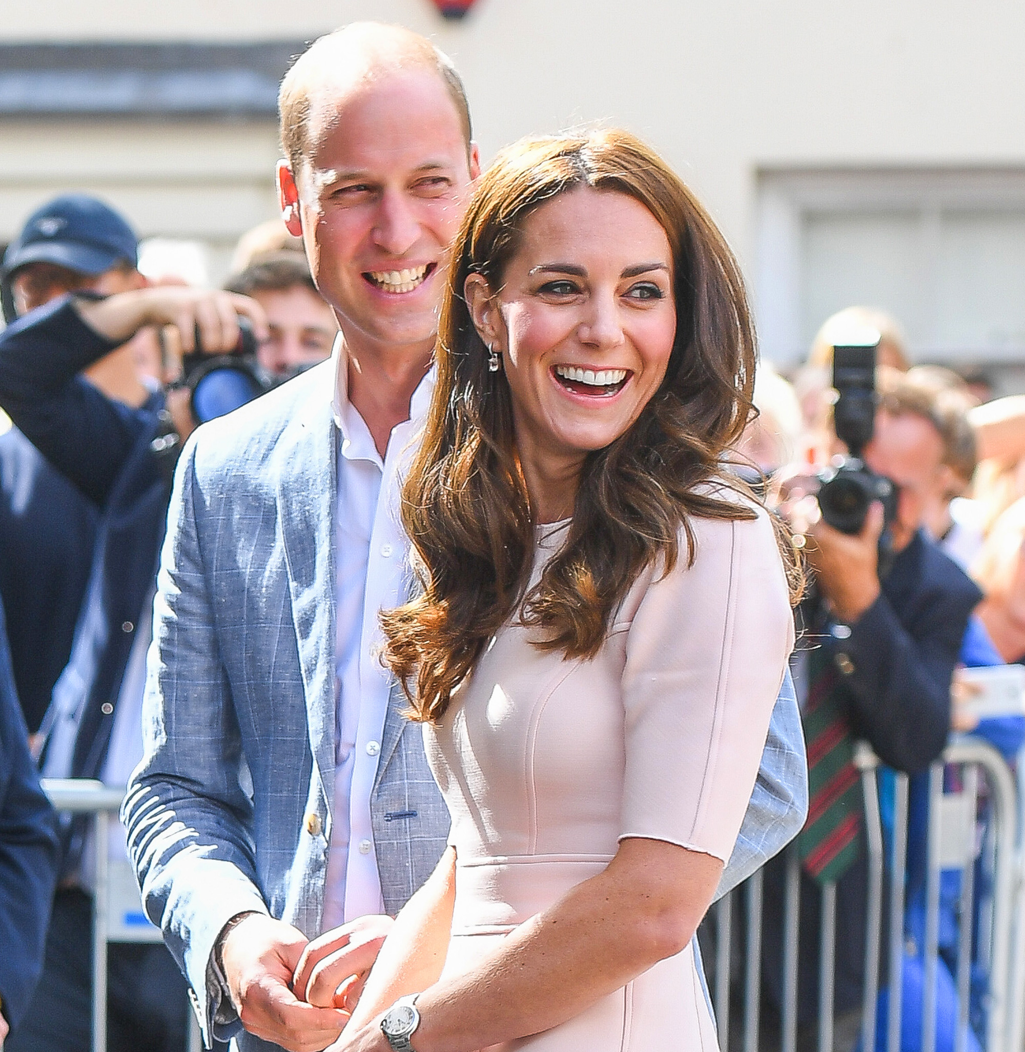 Duchess Kate is pretty in pink Mulberry on Coventry visit