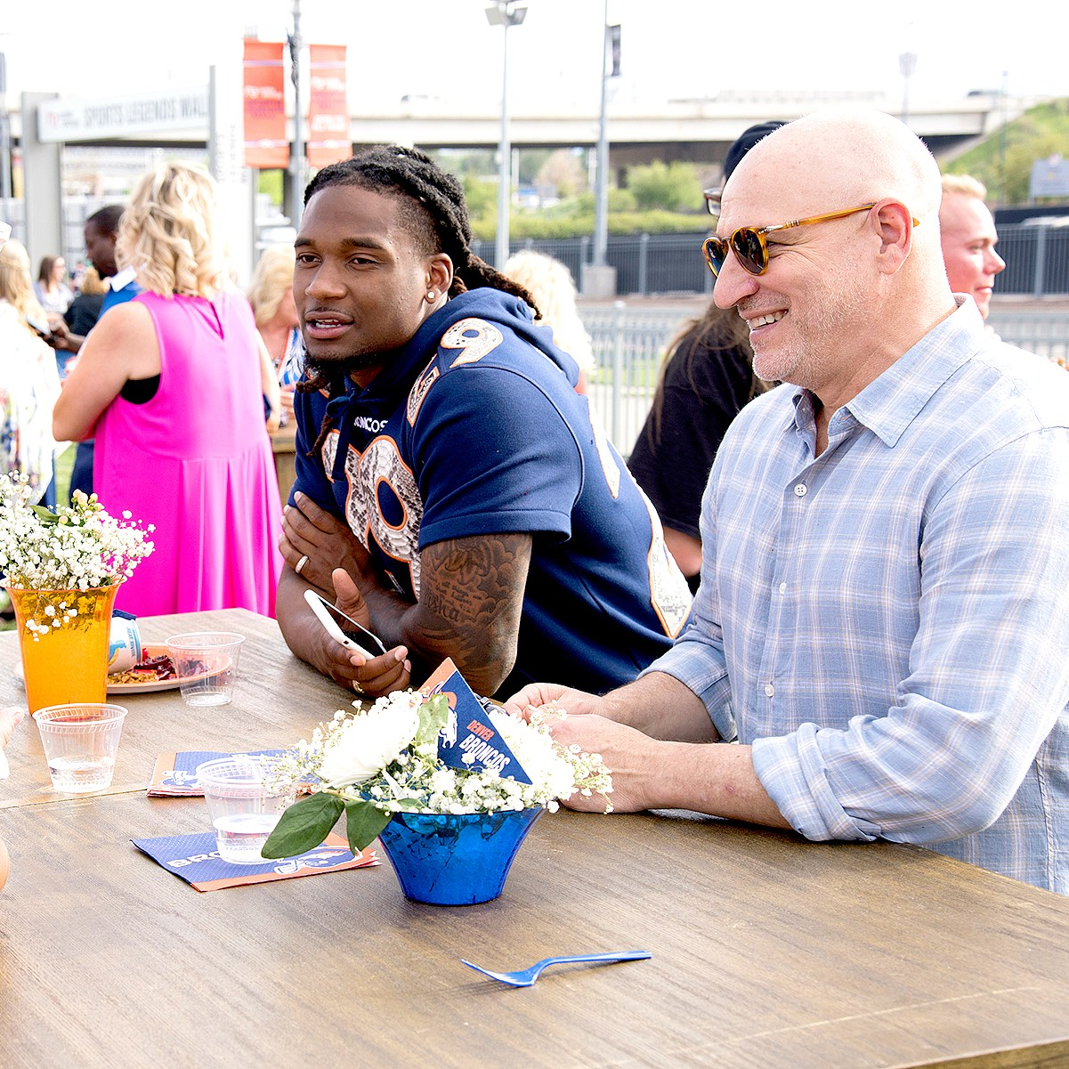 Bradley Roby and Tom Colicchio on Top Chef
