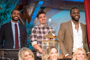 Eric Bigger, Dean Unglert and Josiah Graham on 'Bachelor Winter Games'