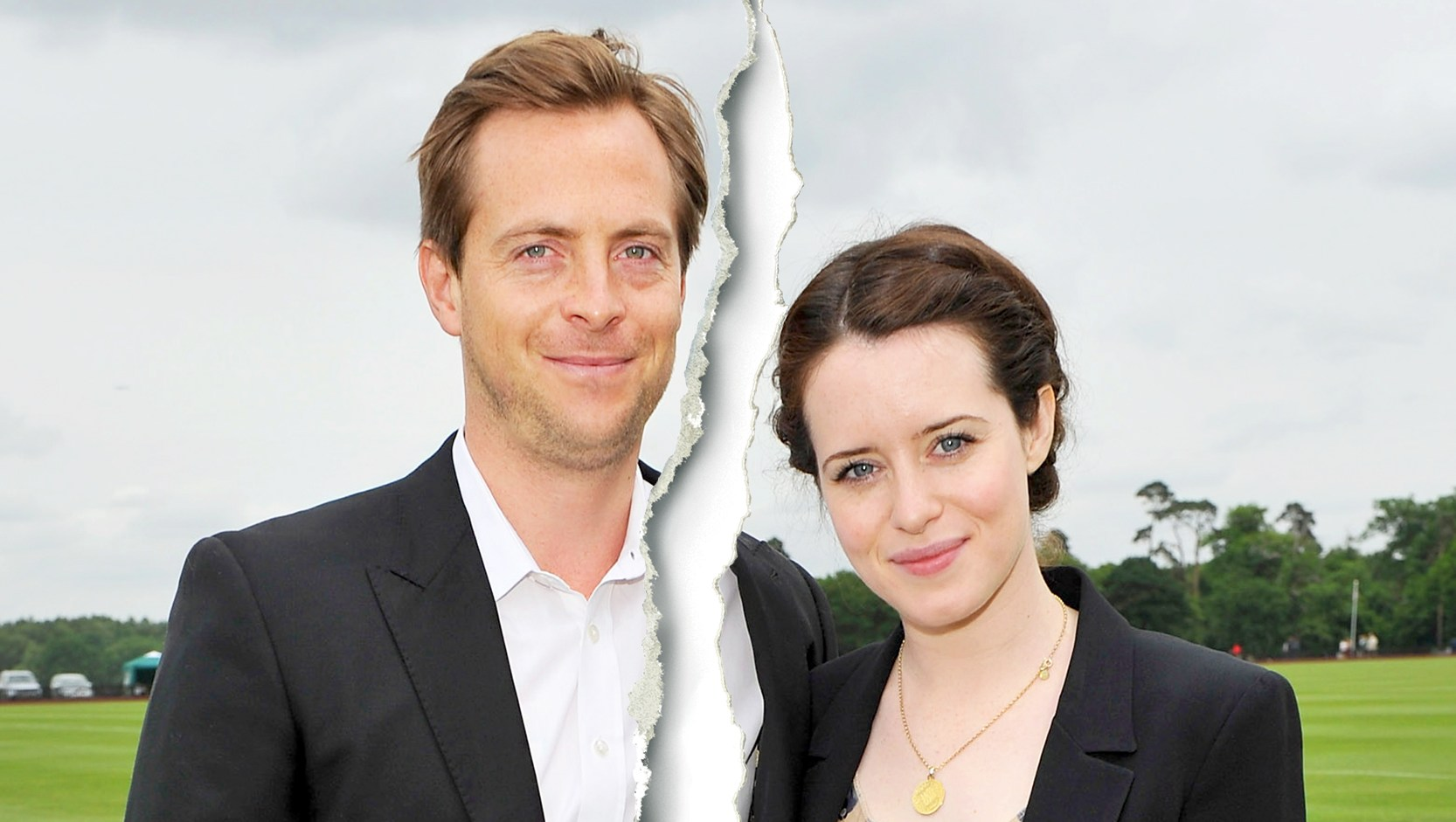 Stephen Campbell and Claire Foy attends the Cartier Queen's Cup Polo Day 2013 at Guards Polo Club in Egham, England.
