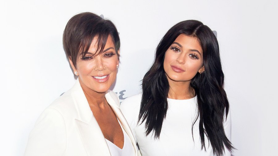 Kris Jenner and Kylie Jenner attend the 2015 NBCUniversal Cable Entertainment Upfront at the Jacob K. Javits Convention Center in New York City.