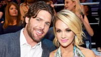 Mike Fisher and Carrie Underwood in audience during the 2016 CMT Music awards at the Bridgestone Arena on June 8, 2016 in Nashville, Tennessee.