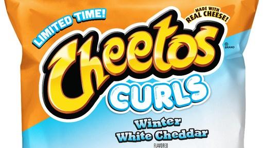 Cheetos Winter White Cheddar Curls