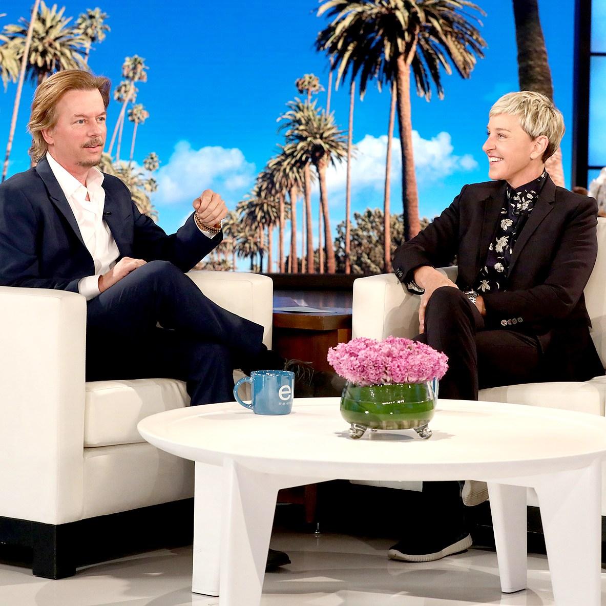 David Spade and Ellen DeGeneres
