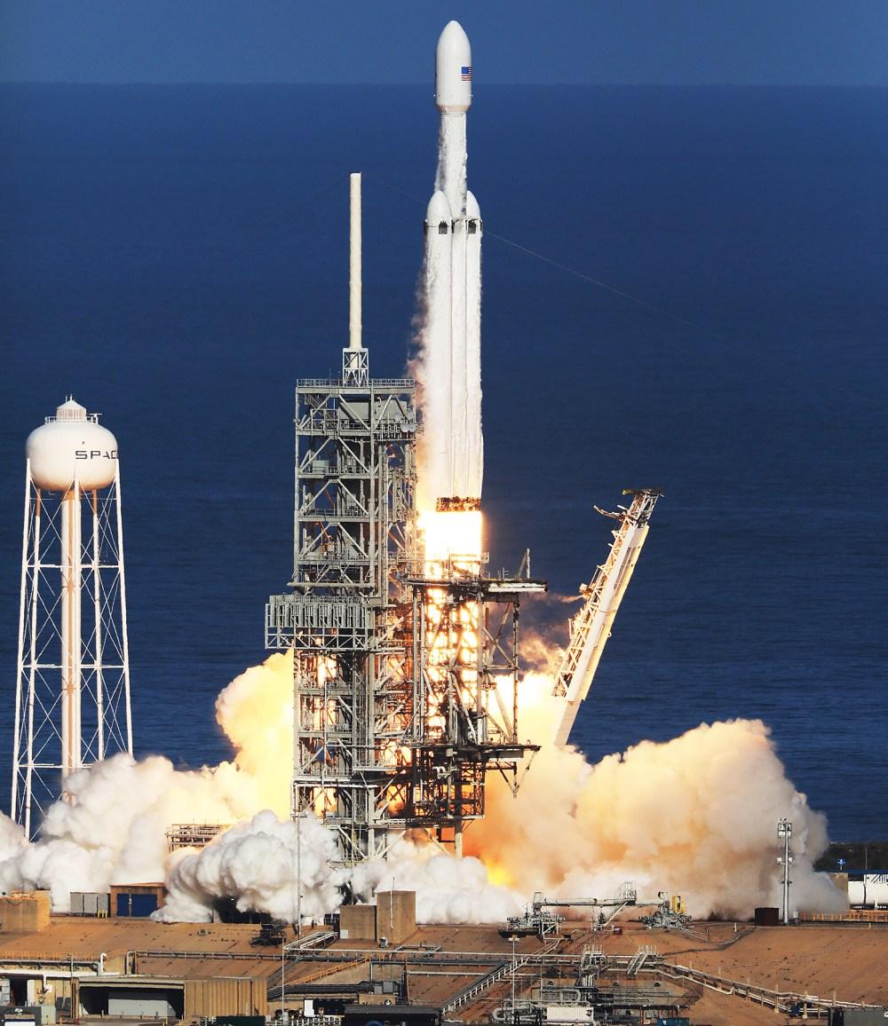 SpaceX Falcon Heavy rocket Elon Musk Tesla