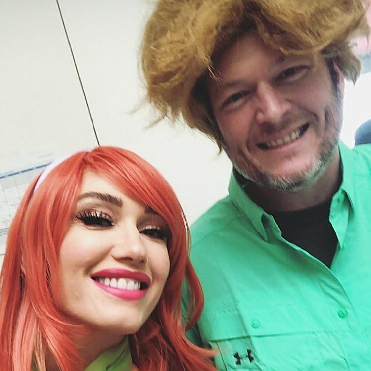 Gwen Stefani Blake Shelton Scooby Doo party