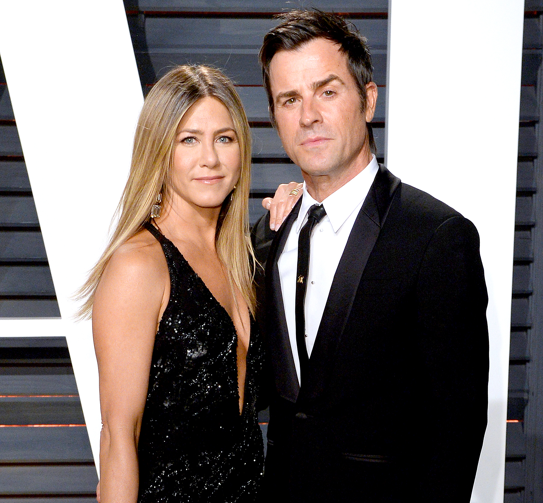 Aniston and Theroux together for the first time came out after the wedding