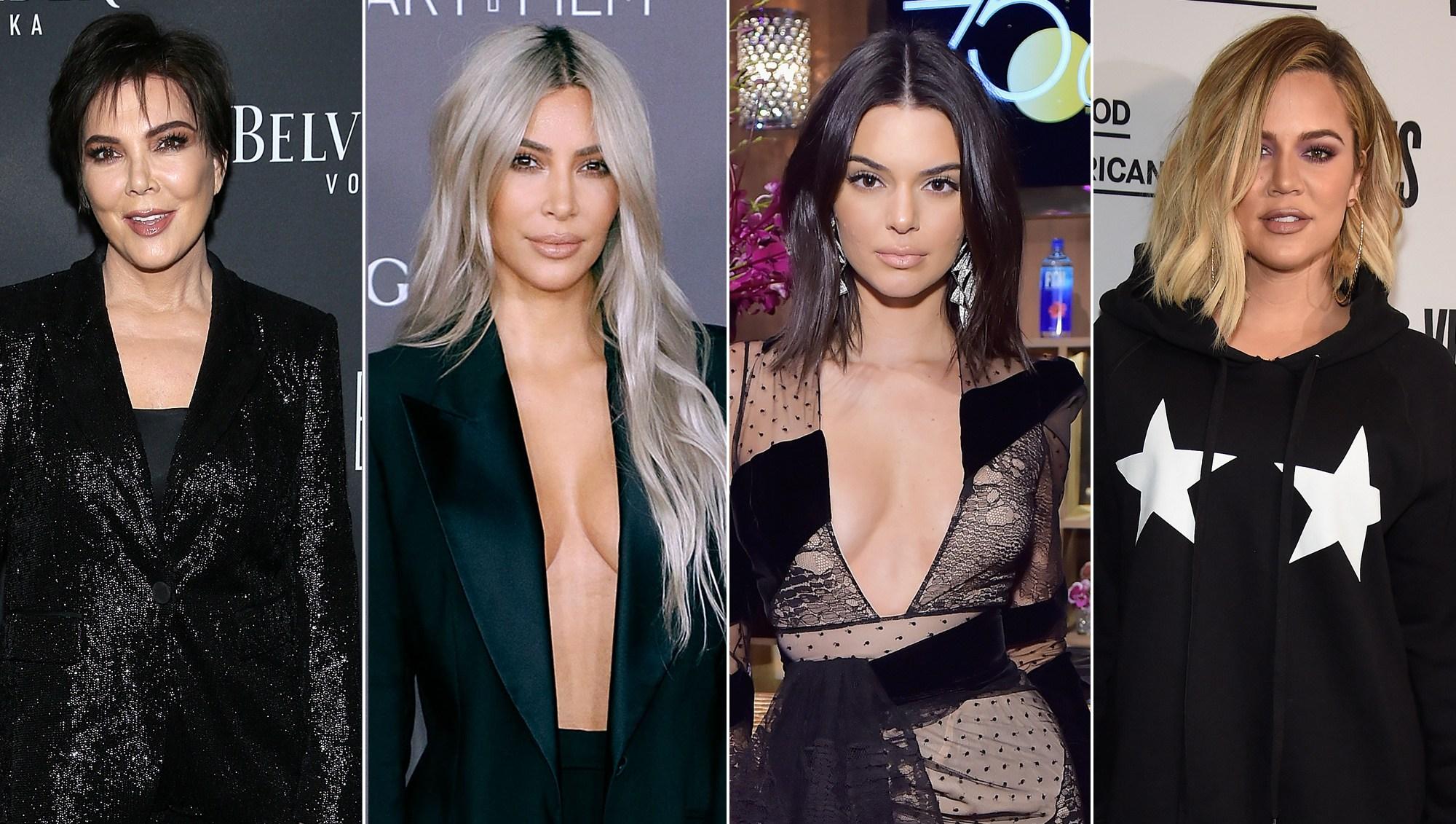 Kris Jenner, Kim Kardashian, Kendall Jenner and Khloe Kardashian