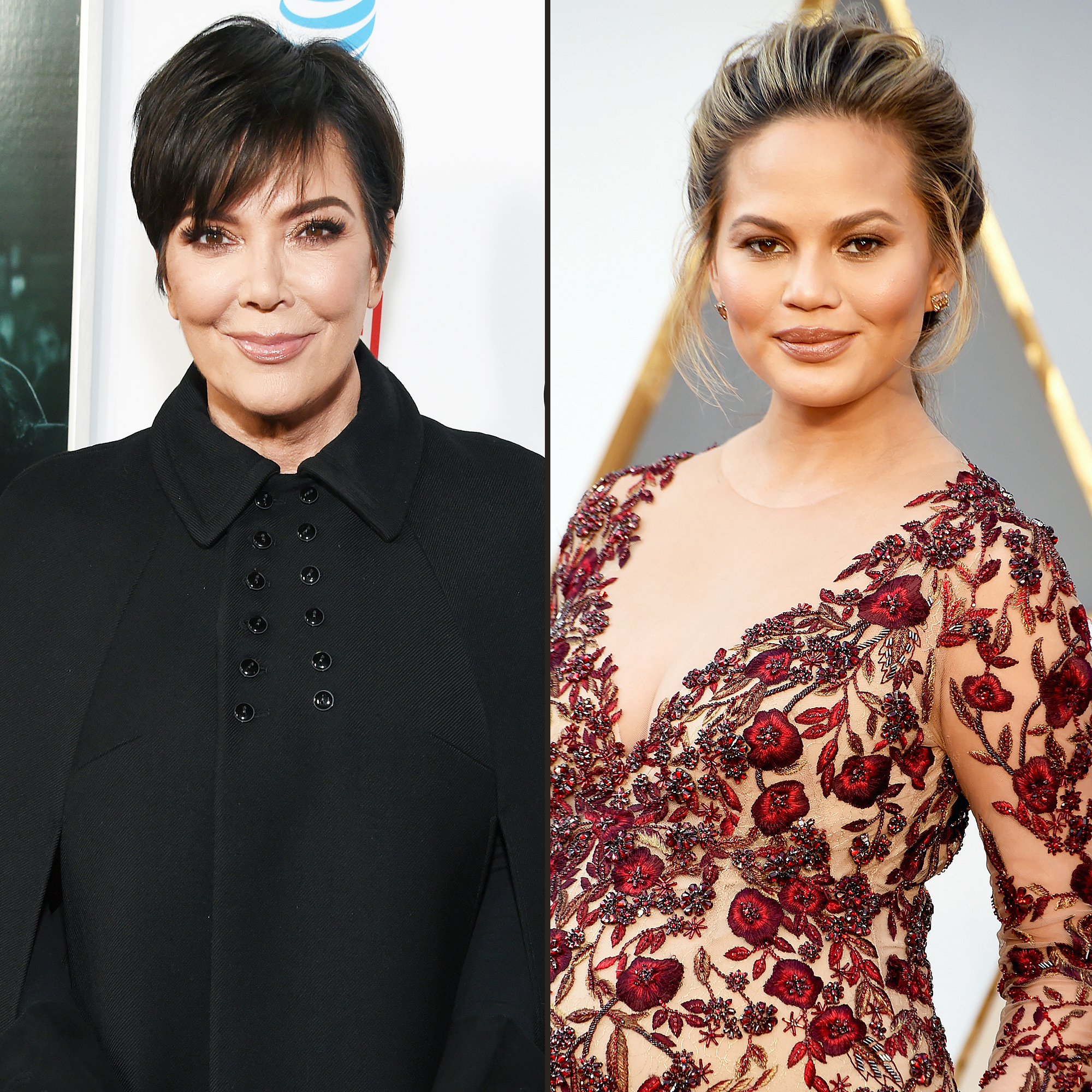 Kris Jenner Falls Into Chrissy Teigen's Table and Breaks It