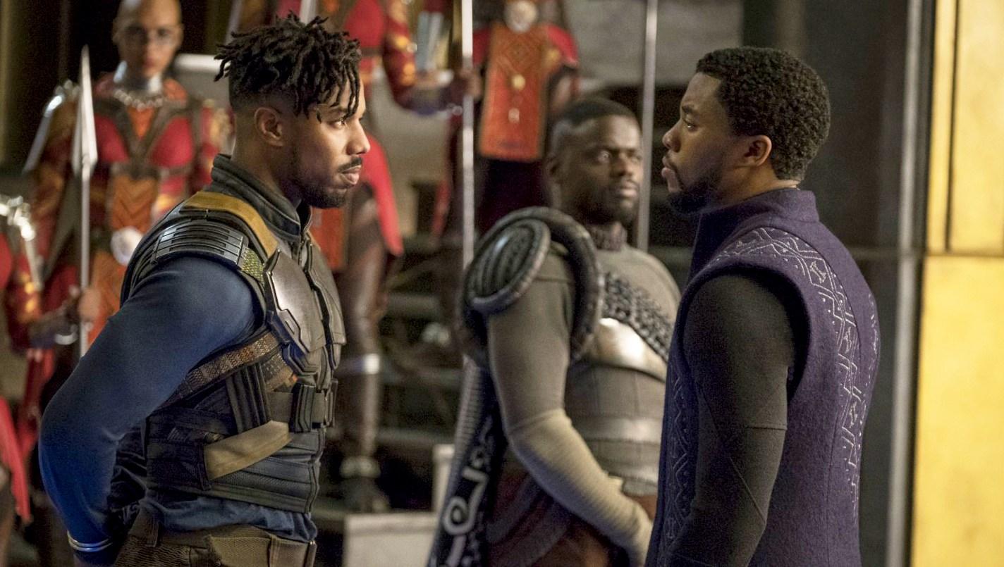 Michael B. Jordan, Chadwick Boseman, Daniel Kaluuya on 'Black Panther'