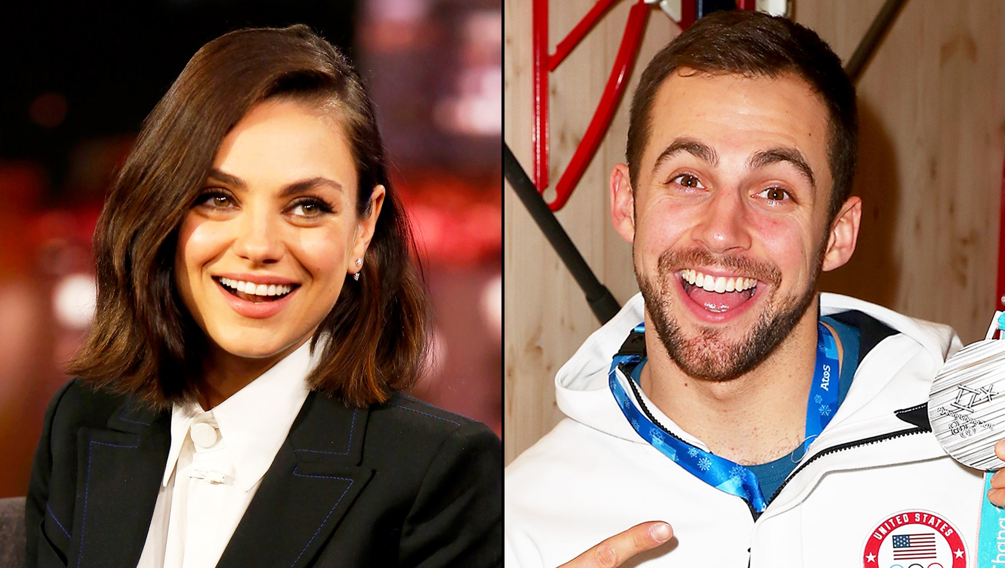 Mila Kunis and Chris Mazdzer