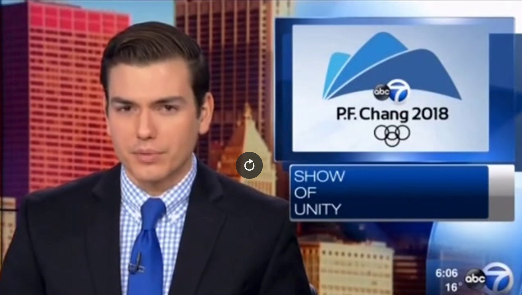 Network confuses PyeongChang with P.F. Chang