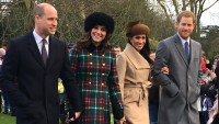 Prince William Kate Middleton Meghan Markle Prince Harry Christmas Day