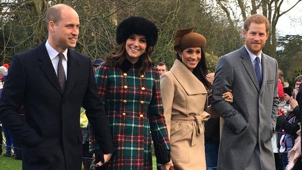 Prince William Kate Middleton Meghan Markle Prince Harry Christmas Day