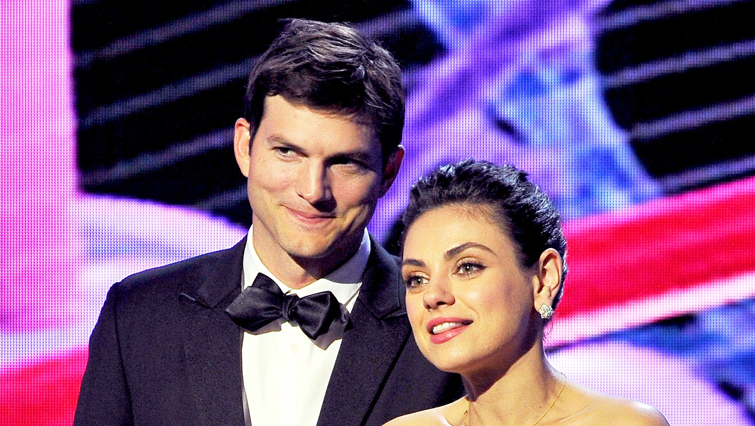 Ashton Kutcher and Mila Kunis during the 2018 Breakthrough Prize at NASA Ames Research Center in Mountain View, California.