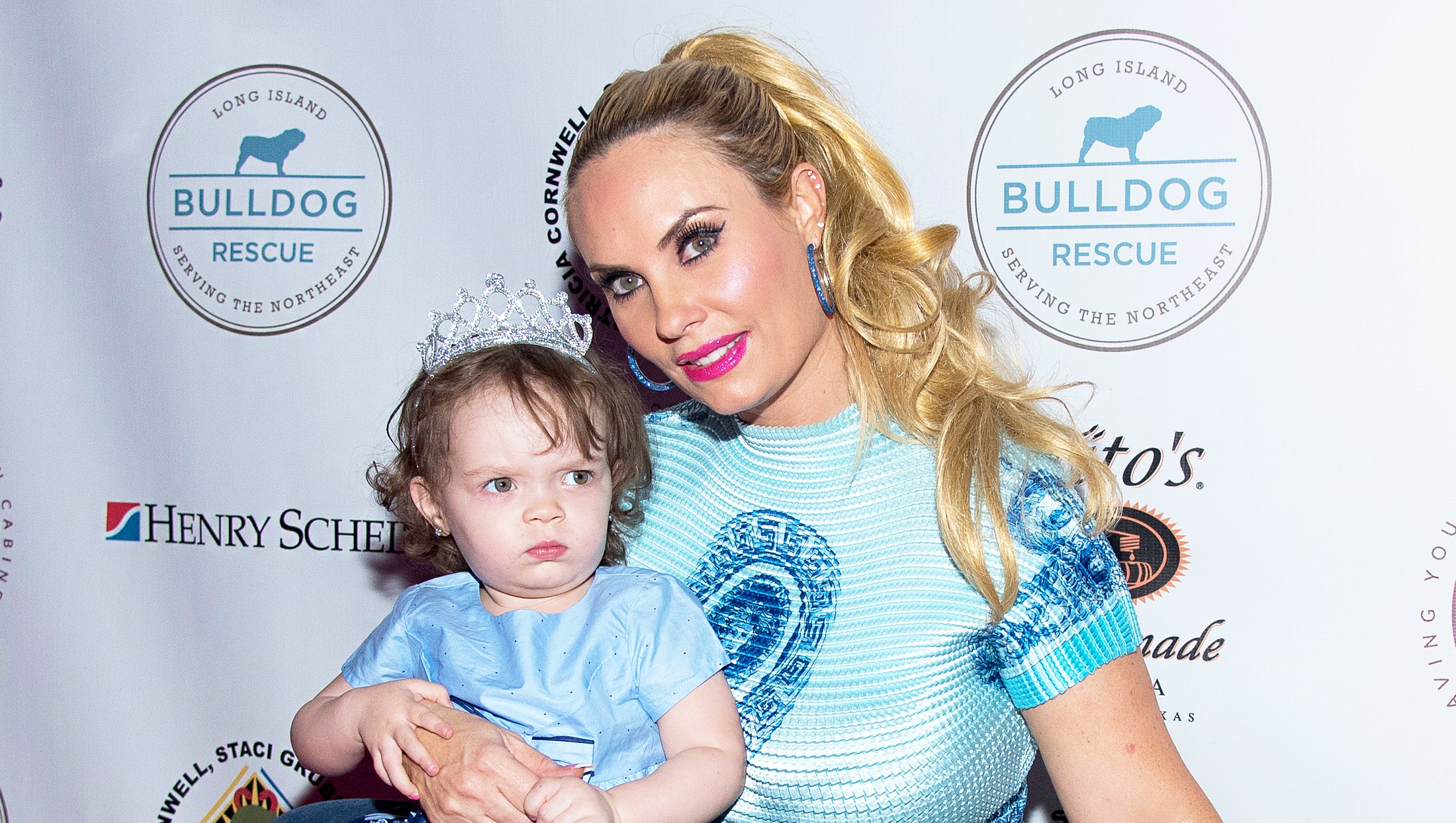 Coco Austin and her daughter Chanel with bulldog Spartacus attend 2017 Bash For The Bulldogs at NYU Kimmel Center on December 4, 2017 in New York City.
