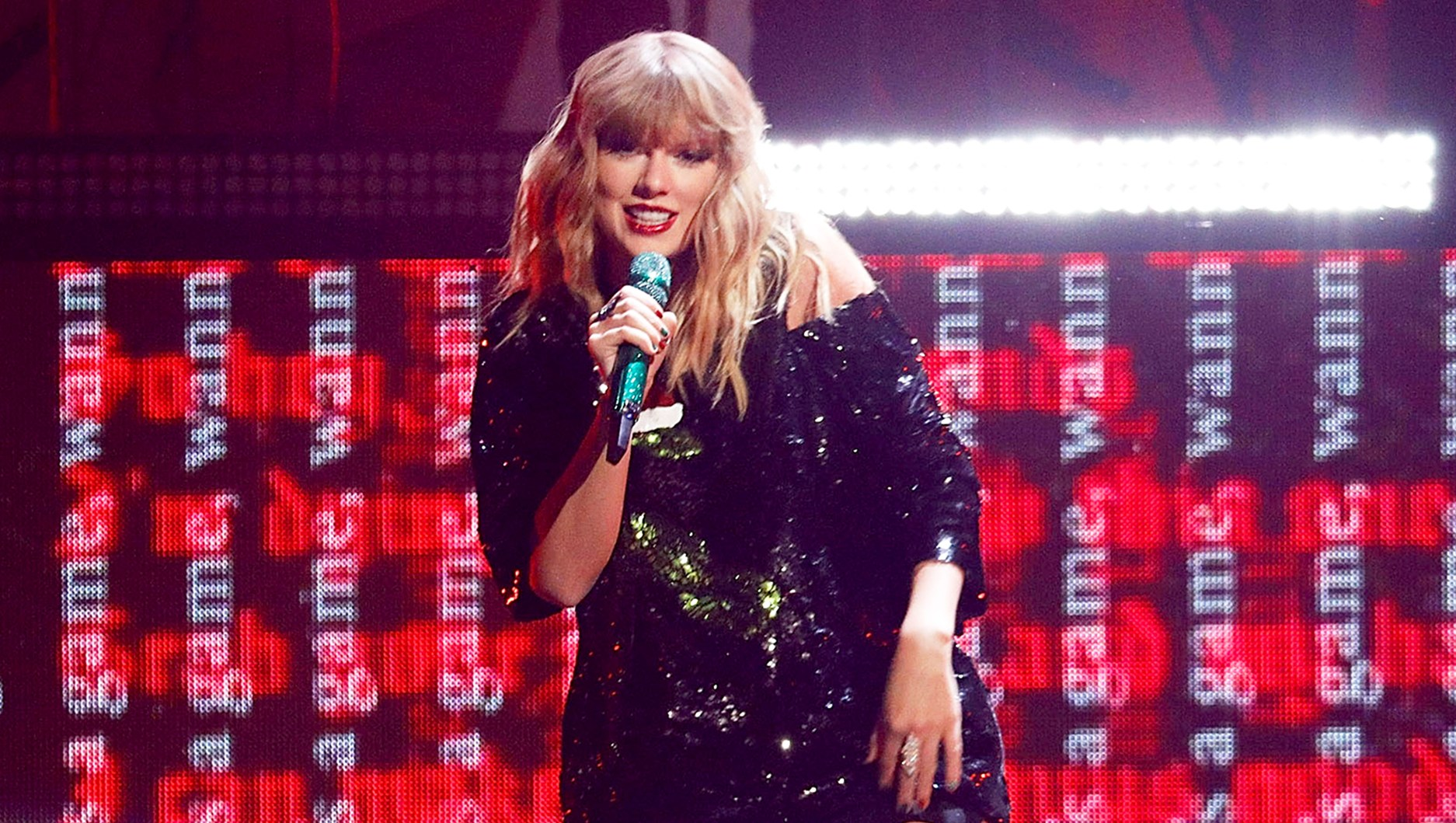 Taylor Swift performs during the 2017 Z100 Jingle Ball at Madison Square Garden in New York City.