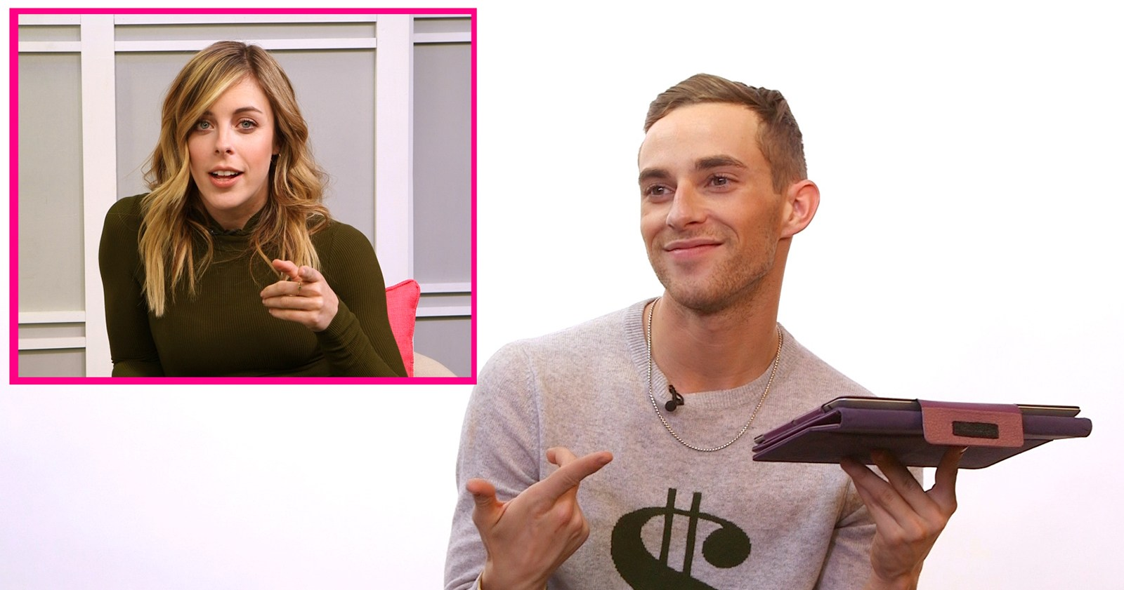 Figure Skaters Adam Rippon and Ashley Wagner Play 'The Best Friends Game' – Watch
