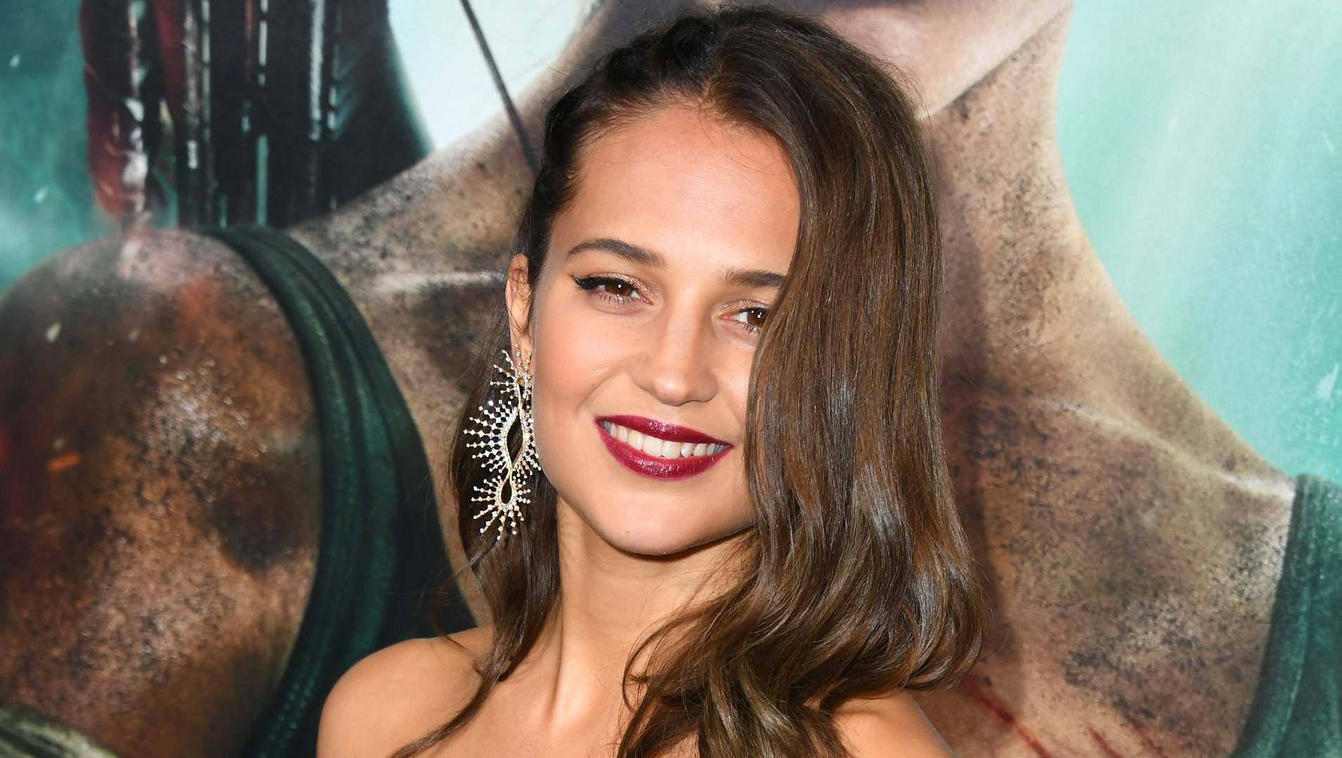 """Alicia Vikander attends the premiere of Warner Bros. Pictures' """"Tomb Raider."""""""