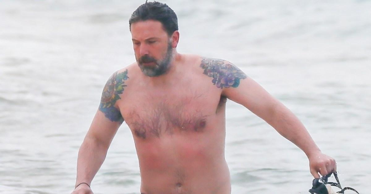 f19b605cd6a5d Ben Affleck Reveals Massive Back Tattoo He Said Was Fake: Pics
