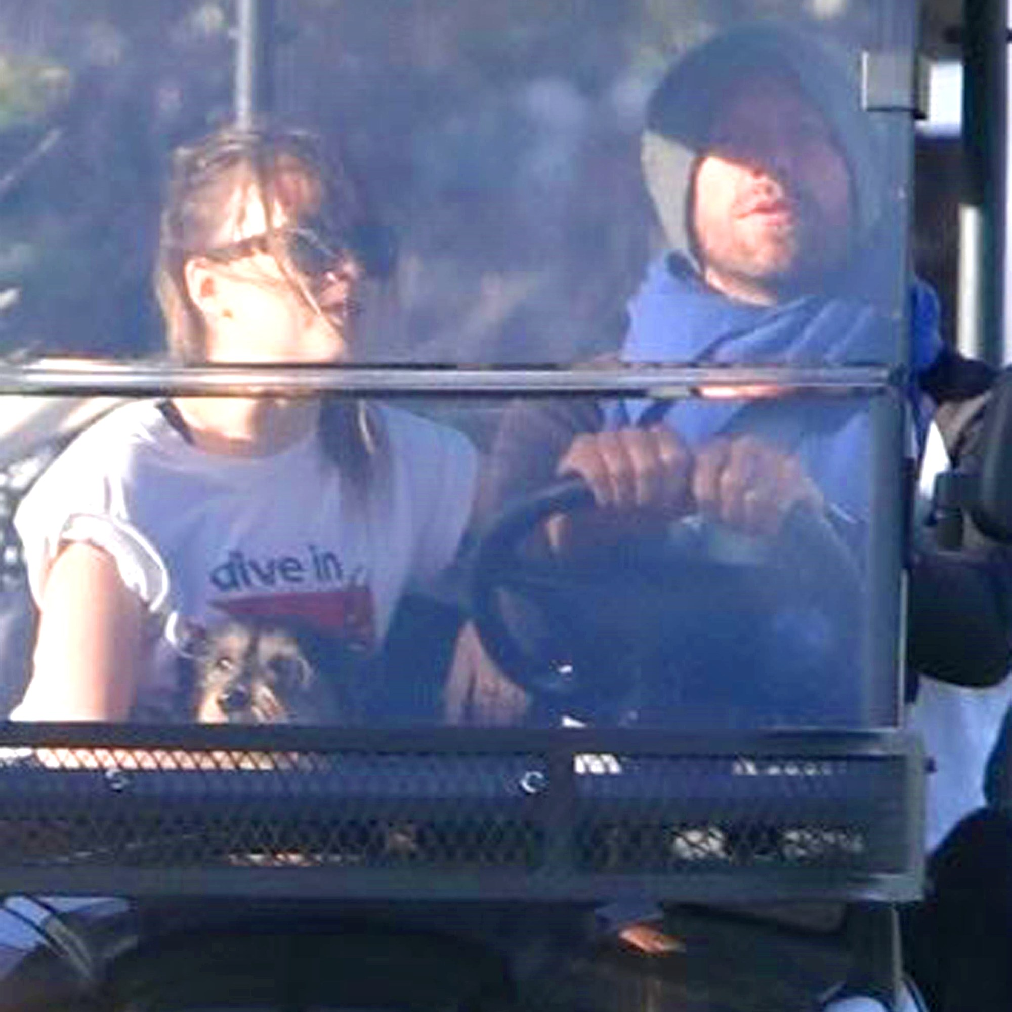 Chris Martin and Dakota Johnson date golf cart