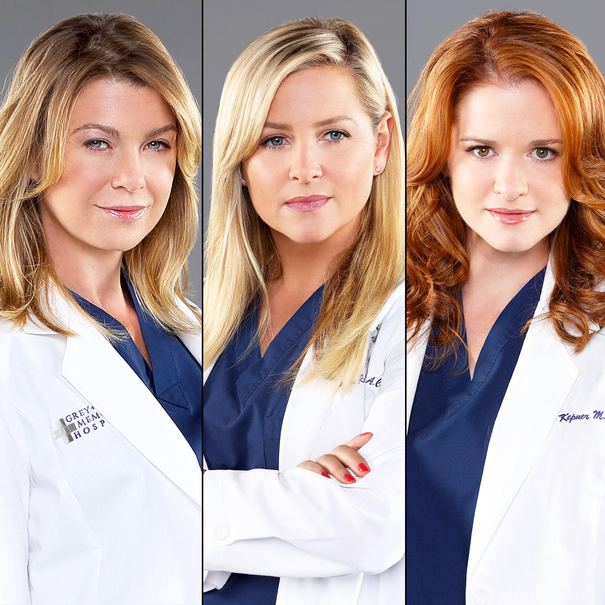 Ellen Pompeo, Jessica Capshaw and Sarah Drew on 'Grey's Anatomy'