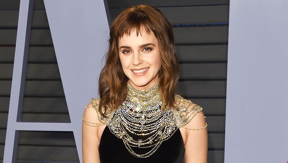 Emma Watson temporary tattoo typo Vanity Fair Oscar Party Oscars 2018
