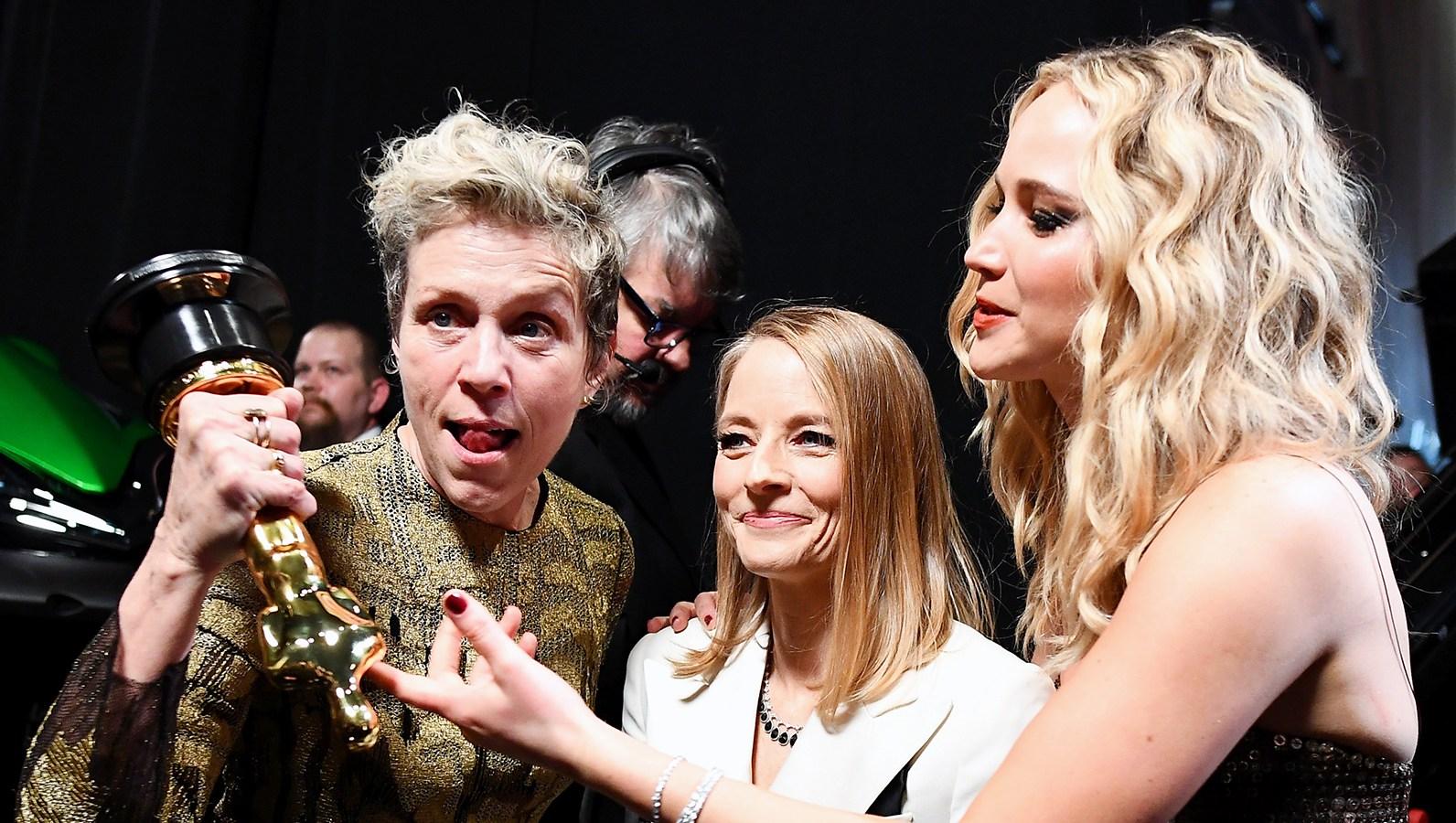 Jodie Foster Jennifer Lawrence Frances McDormand Oscars 2018