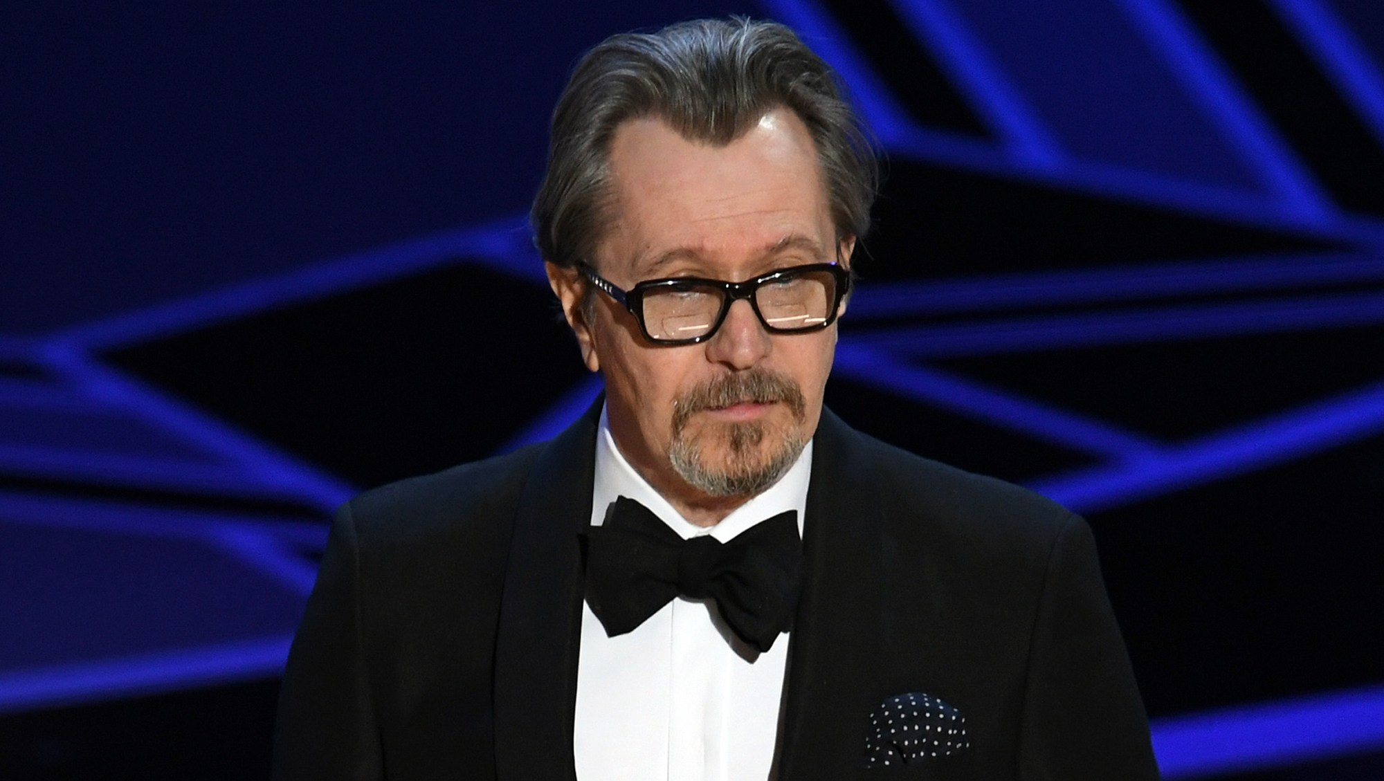 Gary Oldman accepts Best Actor for 'Darkest Hour' onstage during the 90th Annual Academy Awards