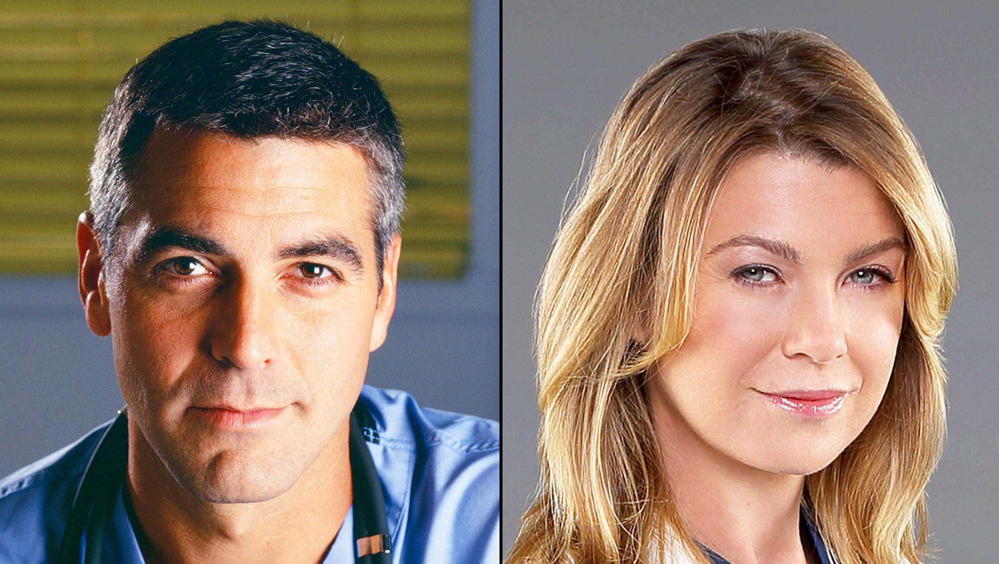 George Clooney and Ellen Pompeo