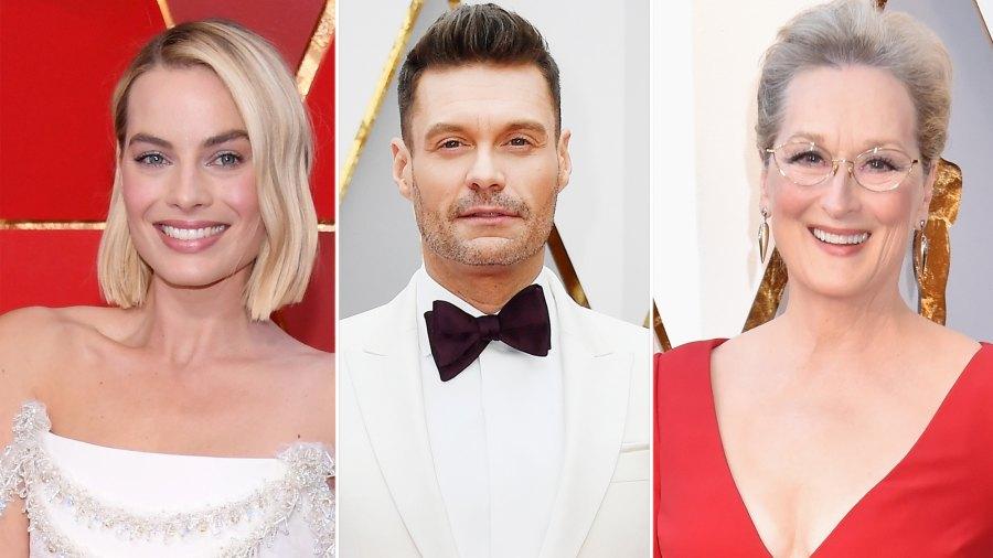 Oscars 2018 Margot Robbie, Ryan Seacrest and Meryl Streep