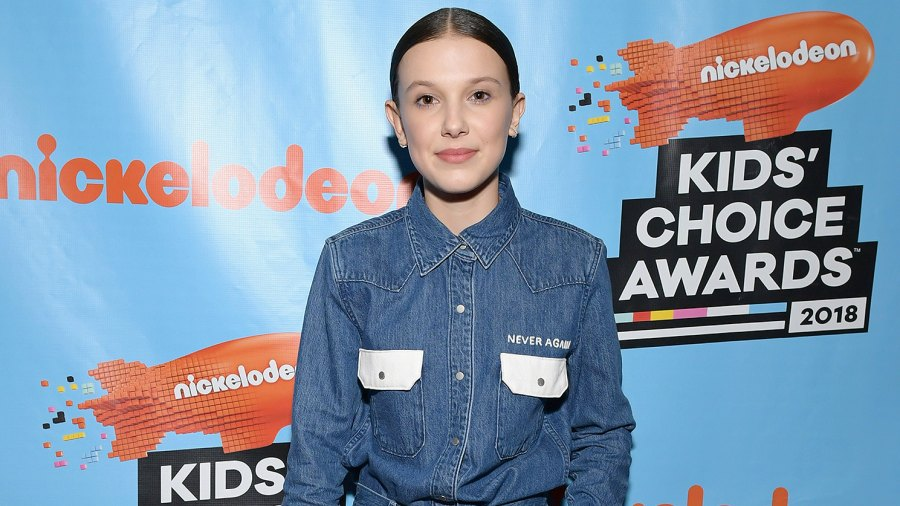 Millie Bobby Brown, March For Our Lives, Shirt, Favorite TV Actress, Nickelodeon's 2018 Kids' Choice Awards