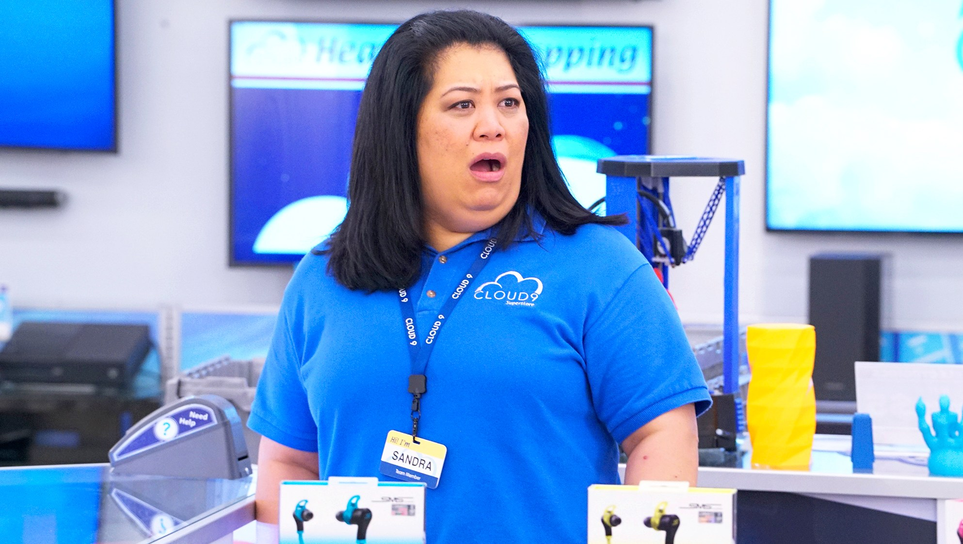 Kaliko Kauahi as Sandra on 'Superstore'