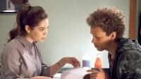 Auli'i Cravalho as Lilette Suarez and Damon J. Gillespie as Robbie Thorne on 'Rise'