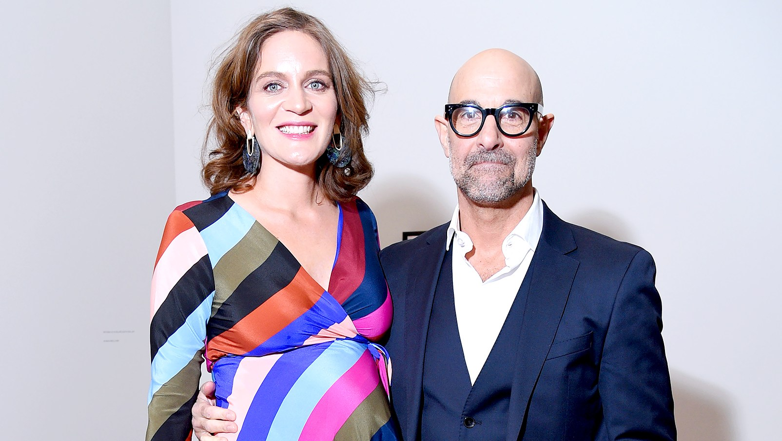 Stanley-Tucci-Felicity-Blunt-expecting