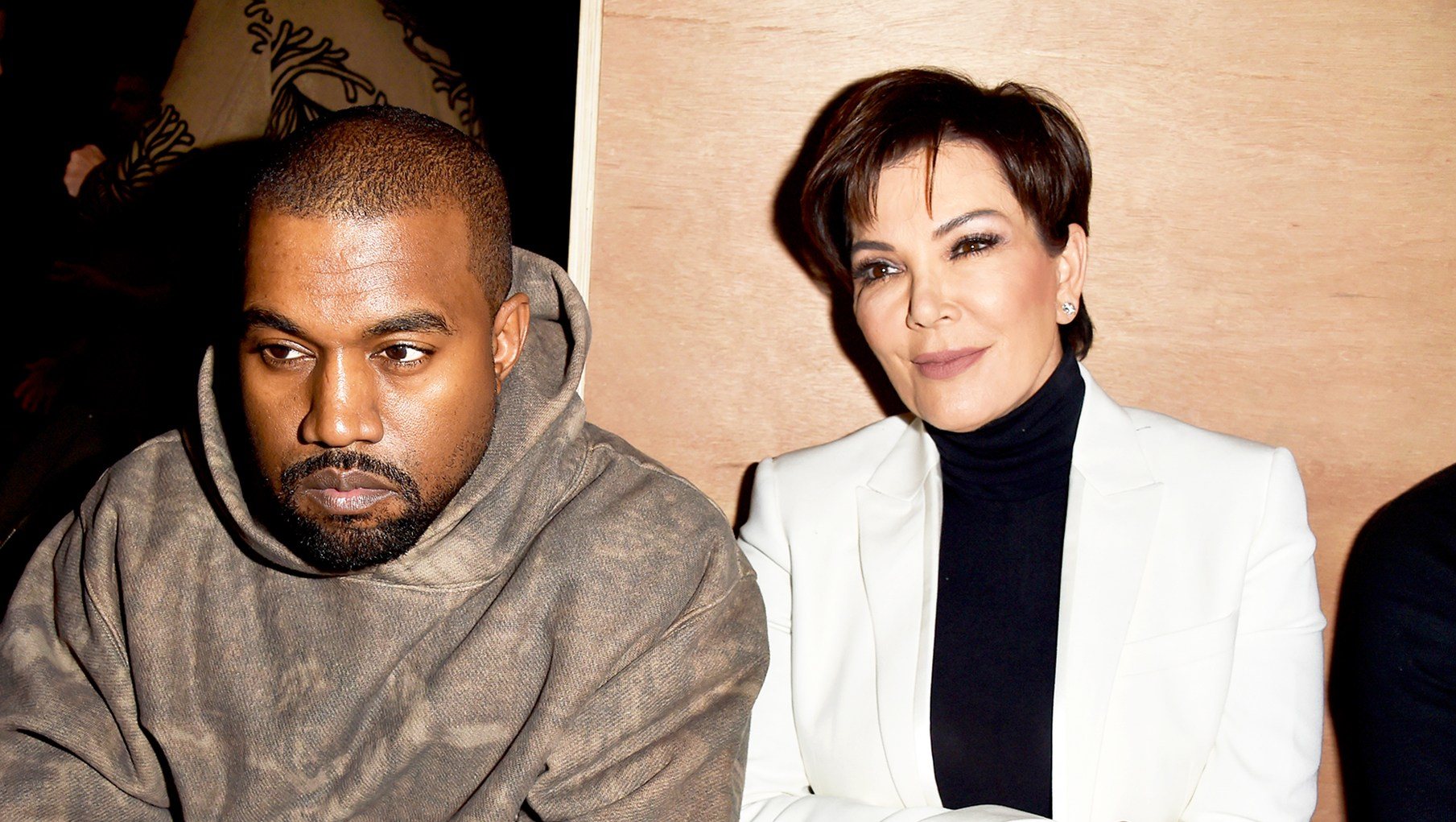 Kanye West and Kris Jenner attend the Givenchy show during Paris Fashion Week Womenswear Fall/Winter 2016/2017 in Paris, France.