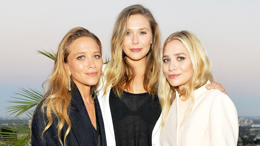 Mary-Kate Olsen, Elizabeth Olsen and Ashley Olsen attend Elizabeth and James Flagship Store Opening 2016 Celebration with InStyle at Chateau Marmont in Los Angeles, California.